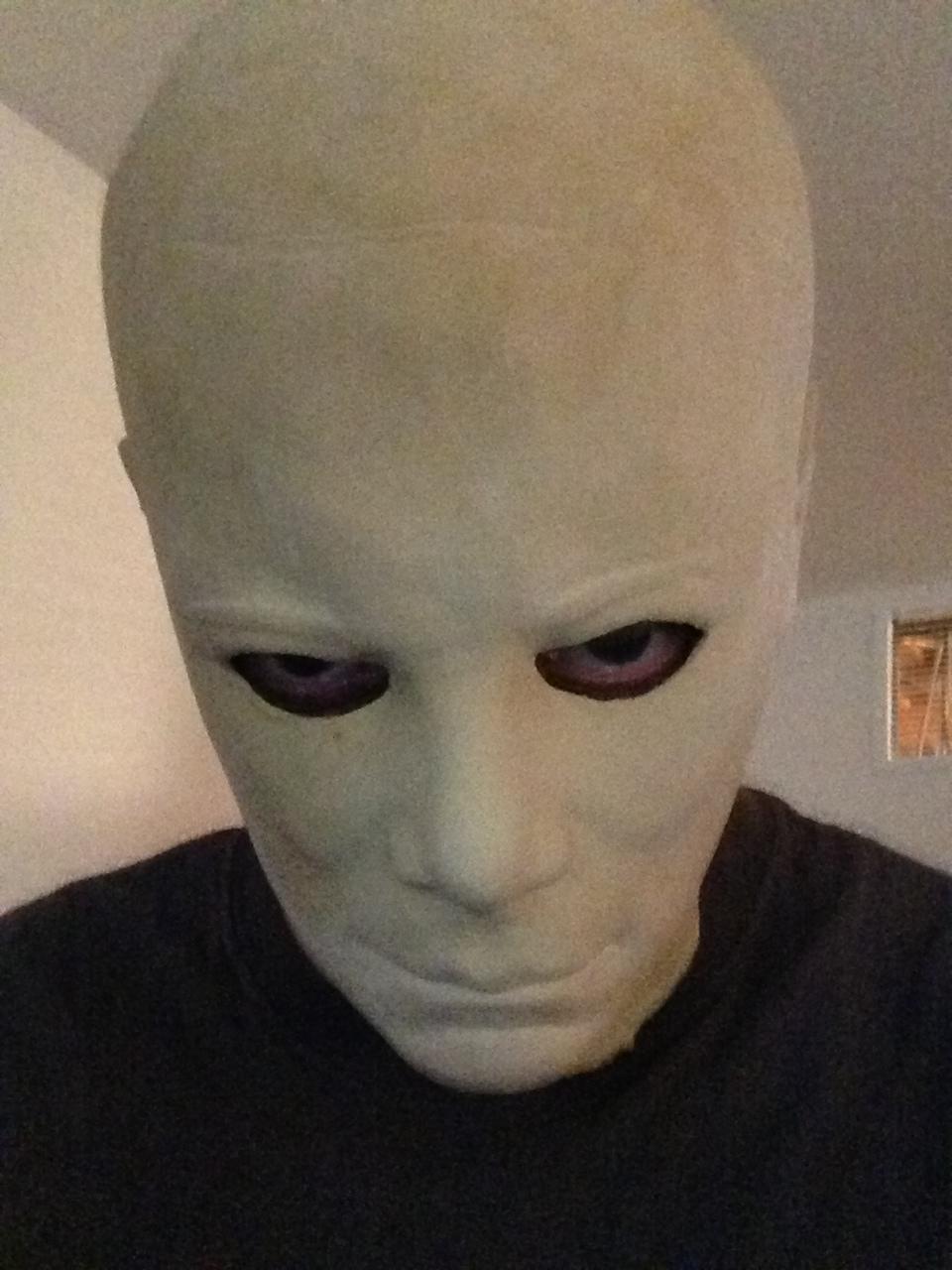 Captain kirk mask painted white